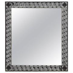 Exceptional Old Greek Key Iron Mirror