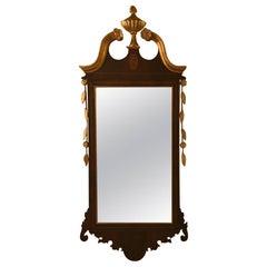 Diminutive Gilt and Mahogany Inlaid Mirror