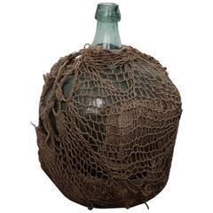 Rare 1950s Mezcal Demijohn with Original Netting