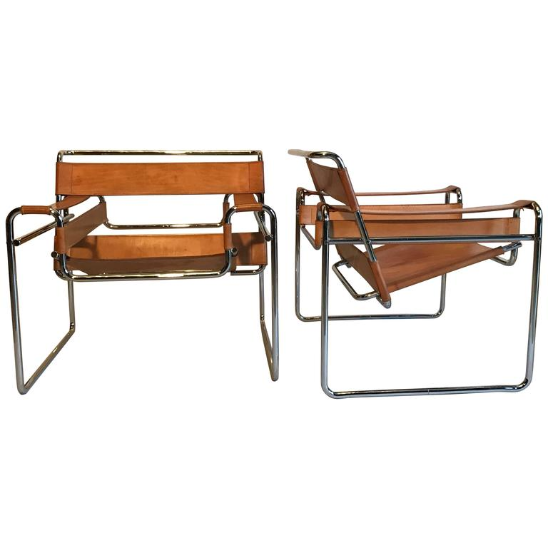 Pair of wassily chairs at 1stdibs for Chaise wassily