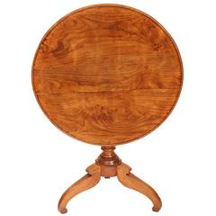 Tilt-Top Table in Solid Chestnut
