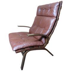 Mid-Century Modern, 1960, Retro Danish Ingmar Relling Siesta Lounge Chair