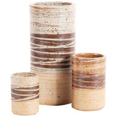 Tue Poulsen, Rare Set of Three Ceramics, circa 1968