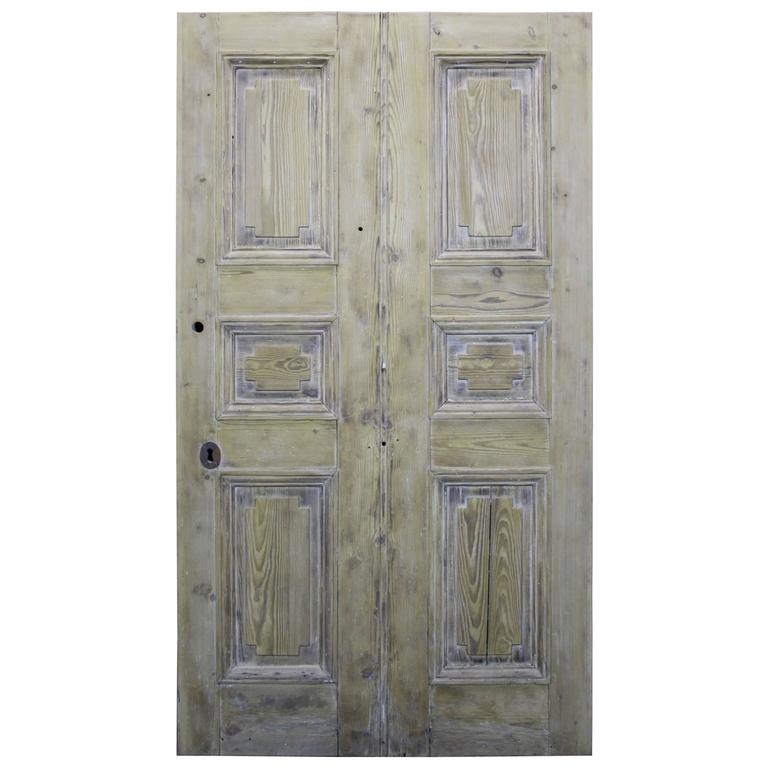 Early 19th Century Stripped Pine Front Door For Sale