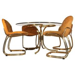 Table with Gastone Rinaldi RIMA, Italy, 1970s Chairs