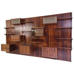 Danish Poul Cadovius Wall Units System in Brazilian Rosewood