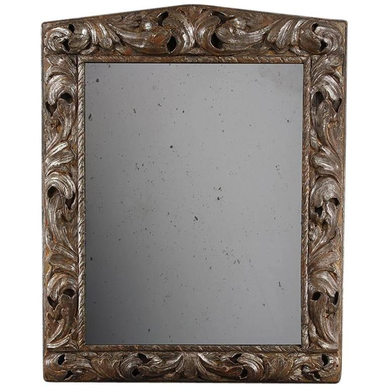Mid-18th Century Large Carved Wooden Frame, Now as a Mirror For Sale ...