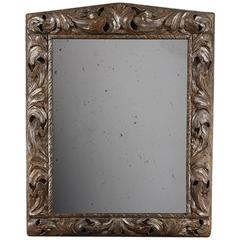 Mid-18th Century Large Carved Wooden Frame, Now as a Mirror