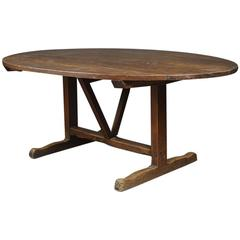 Large Early 19th Century Vendange Fruitwood Centre Table