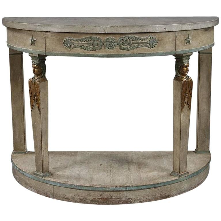 Mid 20th century empire style painted console table for for Mid 20th century furniture