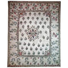 Antique Indo Persian Silk Embroidery, circa 1900