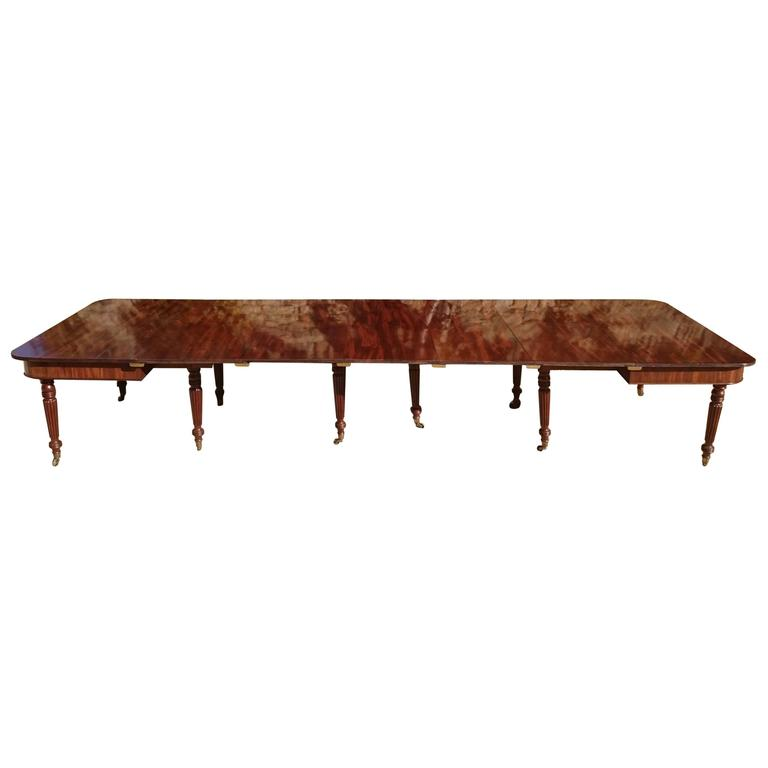 Exceptional Quality Regency Mahogany Extending Dining Table from Sugwas Court