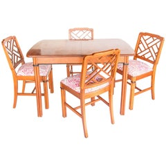 Hollywood Regency Dining Table and Chairs
