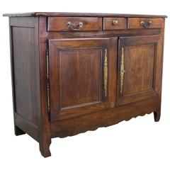 Antique French Chestnut Country Buffet