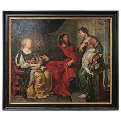 Christ in the House of Martha & Mary Oil Painting