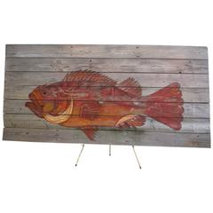 Large Scale Fish Sign