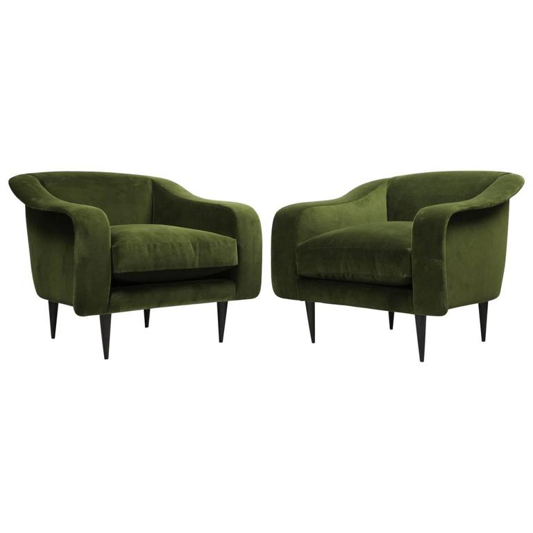 Pair of Brazilian Modern Lounge Chairs by Joaquim Tenreiro