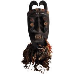 Wooden Grebo Tribe Mask