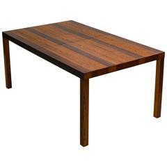 "Milo Baughman ""Candy Stripe"" Dining Table"