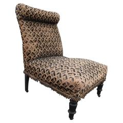 19th Century French Slipper Chair