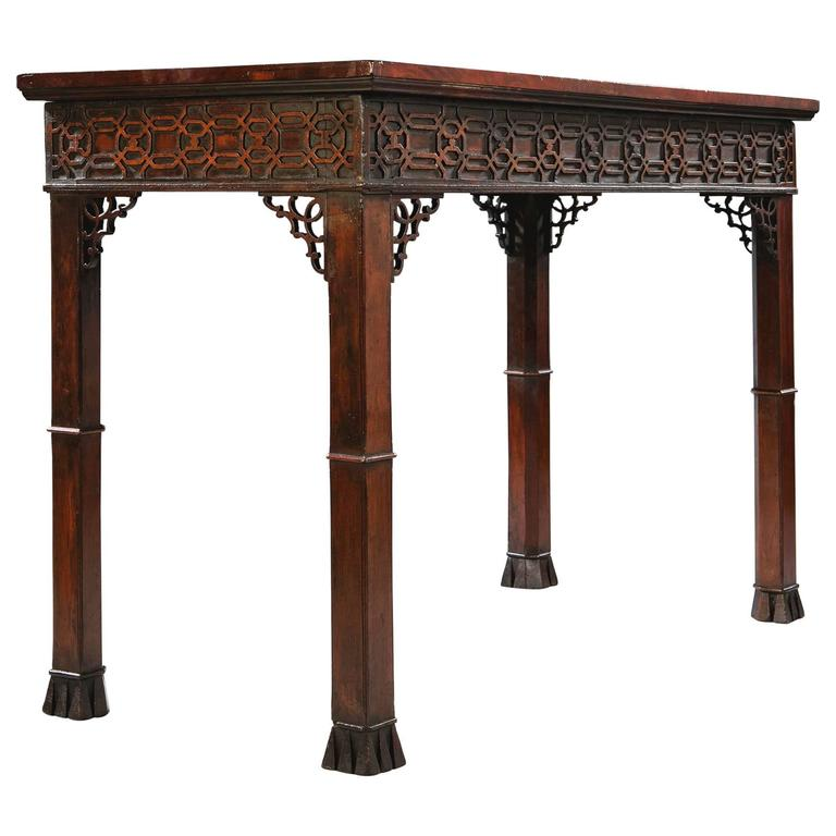 Georgian 18th Century Chippendale Centre or Serving Table