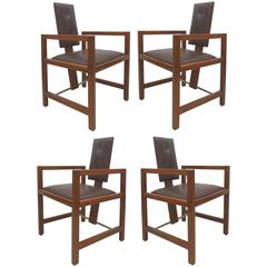 French Art Deco Armchairs by Andre Sornay, Set of Four