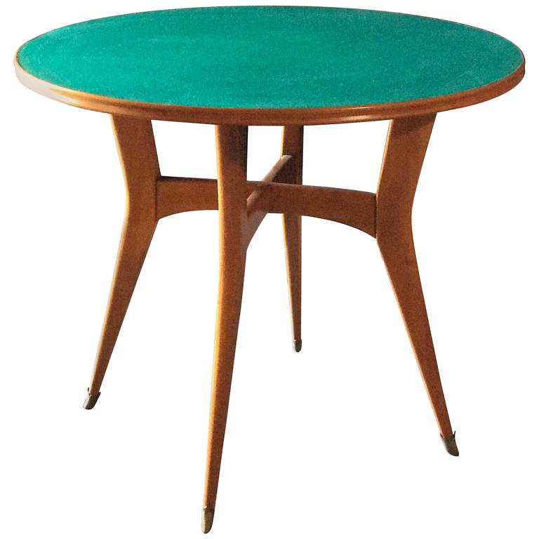 Italian Round Game Table Attributed to Ico Parisi 1
