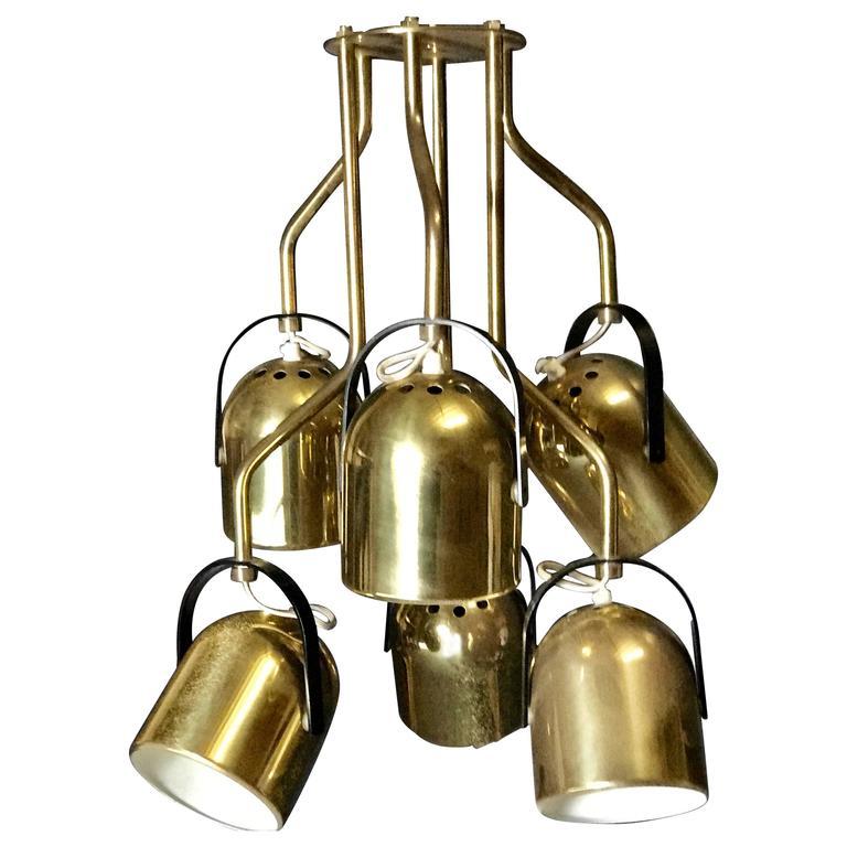 Italian 1970s Brass Pendant Light For Sale At 1stdibs