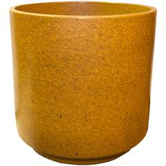 Mid-Century Modern American Golden Orange Stoneware by Architectural Pottery