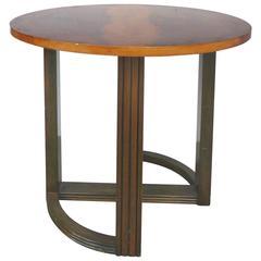 1930s Donald Deskey Figured Walnut Table