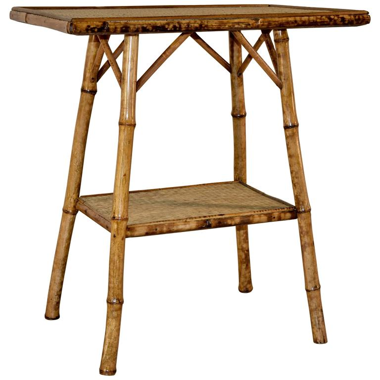 Late 19th century french bamboo side table at 1stdibs for Bamboo side table