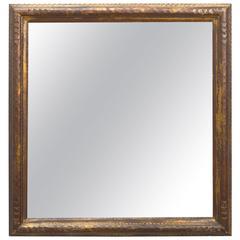1940s Chunky Giltwood Framed Mirror