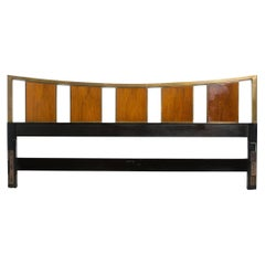 Probber Walnut and Brass King Size Headboard