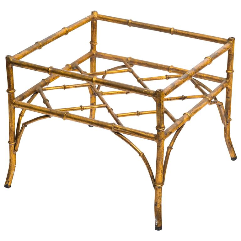Italian gilt metal faux bamboo side table for sale at 1stdibs for Bamboo side table