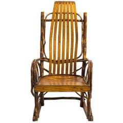 Children's Adirondack Bentwood Oak Hickory Rocking Chair