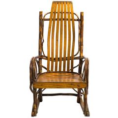 Children's Adirondack Bentwood Oak Hickory Rocking Chair