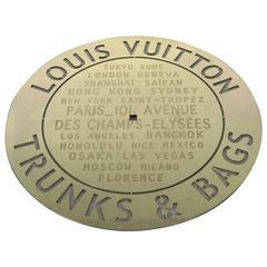 Louis Vuitton Store Plaque