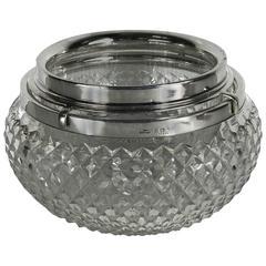 Asprey Sterling and Cut-Glass Caviar Server