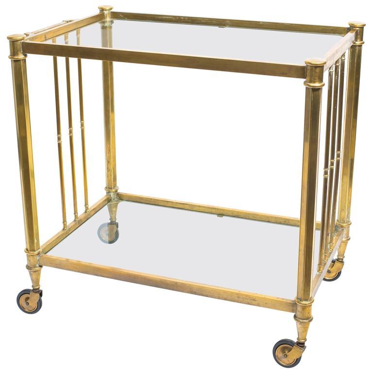 Brass Two-Tier Bar Cart