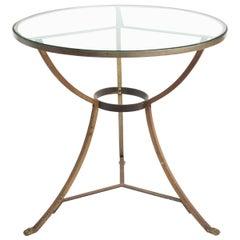 Italian Brushed Steel Table