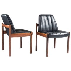 Pair of Easy Chairs in Rosewood and Leather by Sven Ivar Dysthe