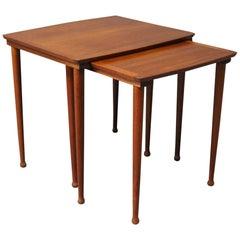 "Set of Nesting Tables in Teak by ""Moebelintarsia"", 1960s"