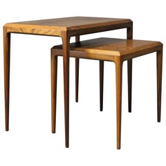 Set of Nesting Tables in Rosewood by Johannes Andersen, 1960s