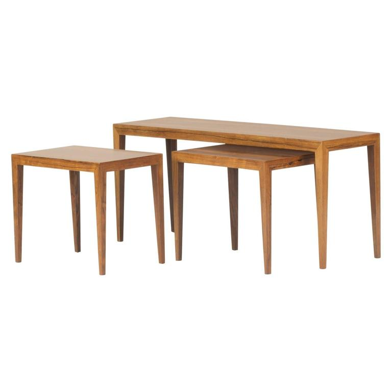 Rosewood Nesting Table by Severin Hansen