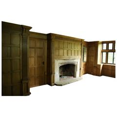 Early 19th Century Oak Paneled Room or Paneling