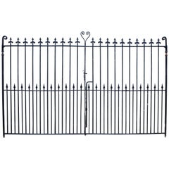 Pair of Antique Wrought Iron Entrance or Driveway Gates