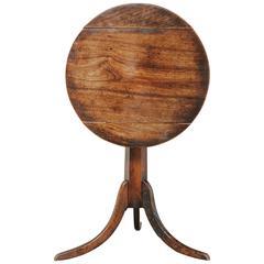 18th Century Walnut and Yewwood Tilt-Top Table