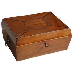 19th Century Cherrywood Tea Caddy