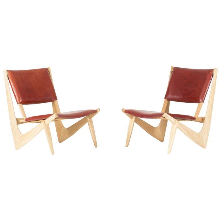 "Pair of ""Presens"" Lounge Chairs by Bertil W. Behrman"