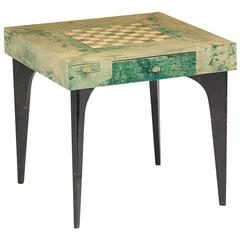 Lacquered Parchment Game Table by Aldo Tura